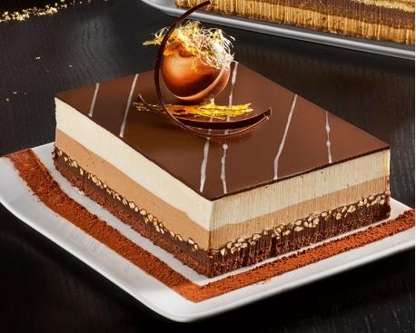 1/2 cadre croquant 3 chocolats