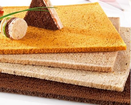 Plaques de pain panachées