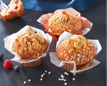 Muffin flower cup : fourré abricot, cranberry et graines de courge