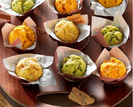 Assortiments de mini muffins salés