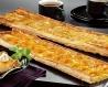 Bande feuilletée abricots crême pâtissière