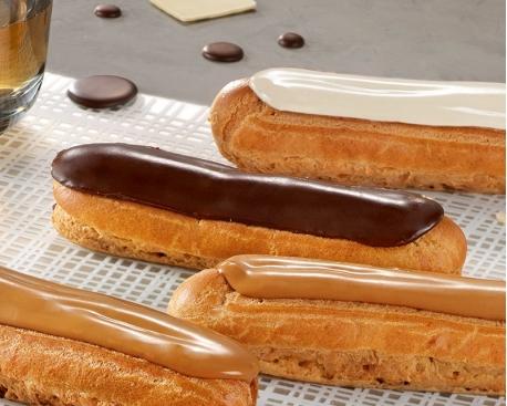 Eclair pâtissier fondant au chocolat