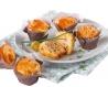 Mini muffin salé chêvre poivron