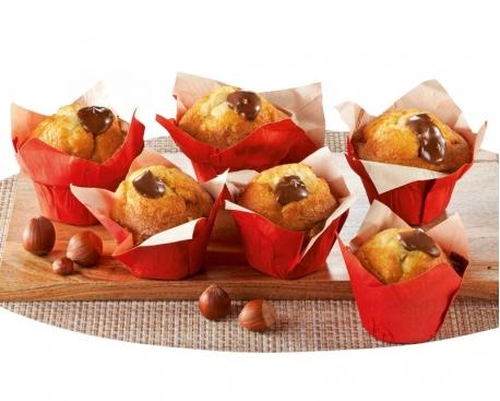 muffin fourré nutella sans decor avec debord
