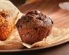 Muffin chocolat, chunks de chocolat, corole tulipe