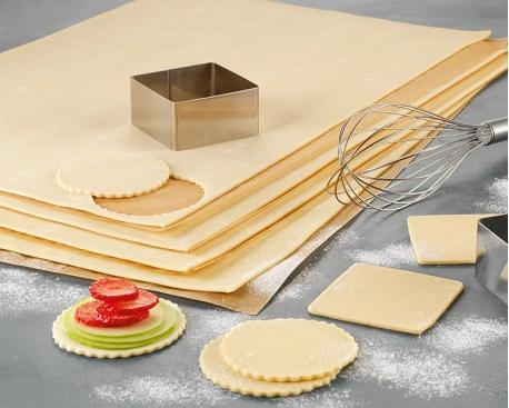 Demi plaque feuilletée beurre 2,8mm non piquée 33% de beurre