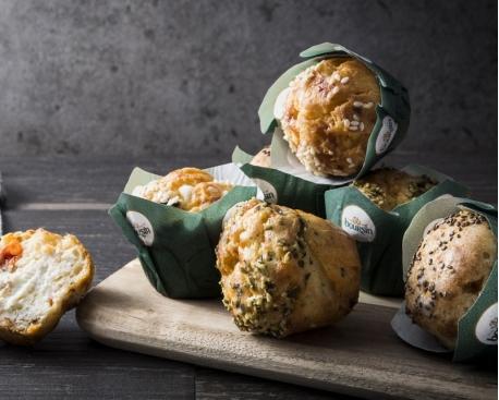 Mini muffin fourré boursin echalote et ciboulette