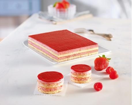 1/2 cadre fraise et framboise
