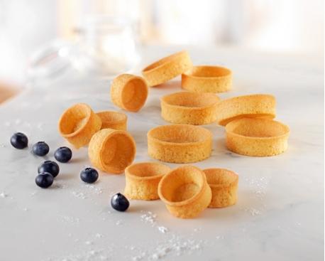 Tartelette sucrée beurre ronde bord droit (élaboré en France)